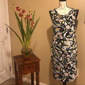Anne Klein Cowl Neck Print Dress. Size 12